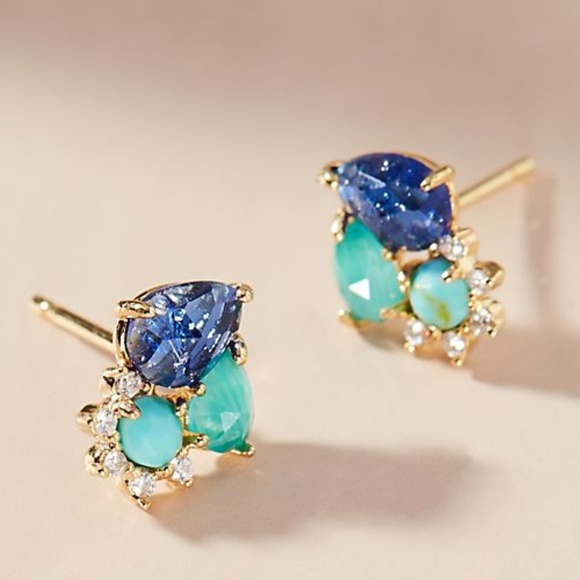 Anthropologie Jewelry - Sold Shirley Post Labradorite Earrings